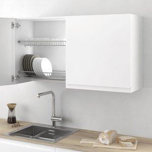 Porte-vaisselle et vitre