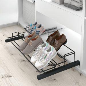 Soporte extraído zapatos