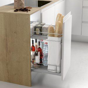 Mueble cocina con botellero panero