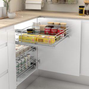Cestilla extraíble para guardar cosas en la cocina de forma ordenada