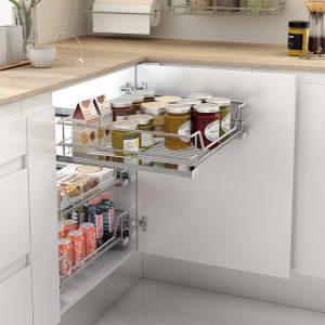 Cesto extraíble para almacenar cosas en la cocina