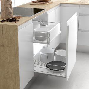 Cerco cacerolero para guardar en un cajón de forma ordenada en la cocina