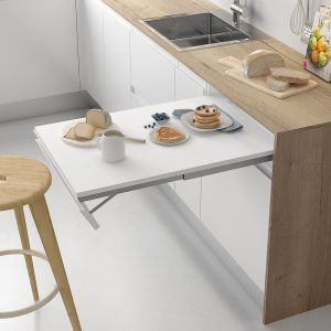 Mesa extraíble de cocina moderna, con frente abatible