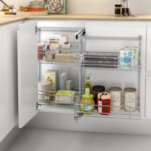 Esquinero extraíble para ordenar cosas en la cocina