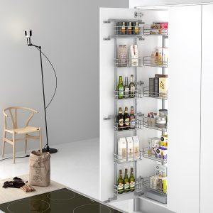 Columna extraíble para ordenar las cosas a modo de despensa en la cocina