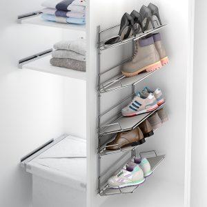 zapatero de pared para fijarlo y tener ordenados los zapatos