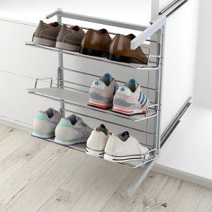 Zapatero articulado para ordenar los zapatos en armario vestidor