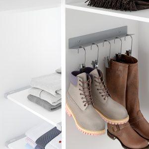 Soporte de botas para ordenarlas dentro de un armario vestidor