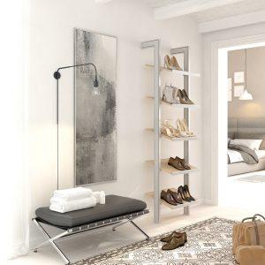 Estantería modular para colocar los zapatos en el vestidor