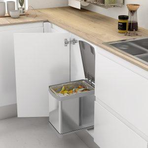 Cubo de basura de acero inoxidable para reciclar en tu cocina